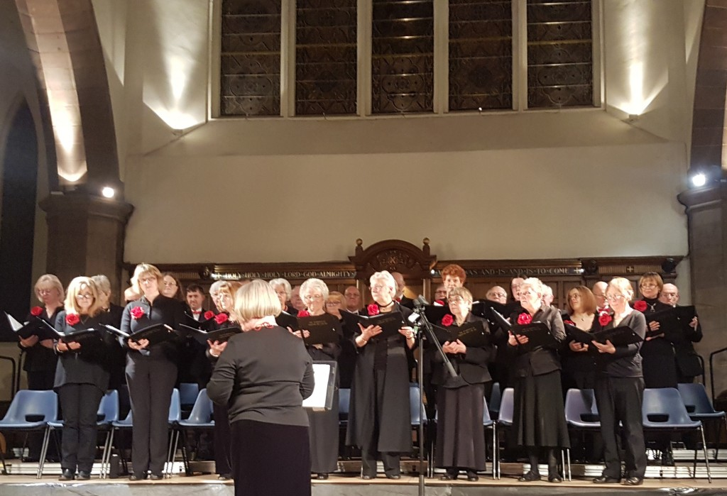 Eleanor conducting at Greyfriars Kirk